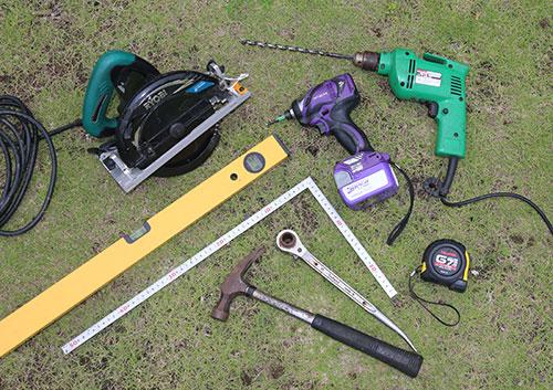電動工具 格安簡単小屋の準備 小屋大全