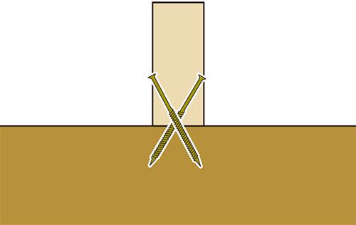 垂木の固定方法ビス(コーススレッド)格安簡単小屋の作業 小屋大全