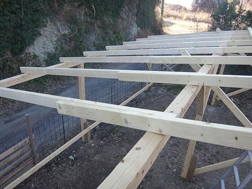 垂木の材料2×412フィート 格安簡単小屋の作業 小屋大全