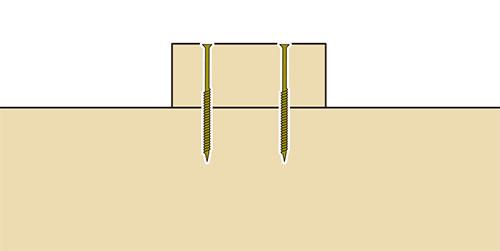 桟木の固定方法ビス(コーススレッド)格安簡単小屋の作業 小屋大全