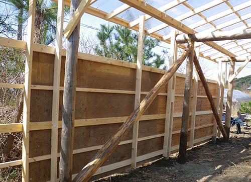 格安簡単小屋の壁の仕組み 小屋大全