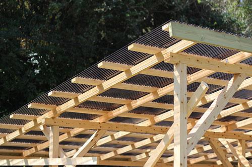 屋根の完成 格安簡単小屋の作業 小屋大全