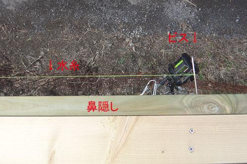 水糸と鼻隠しの位置関係 格安簡単小屋の作業 小屋大全
