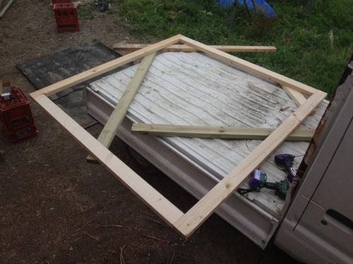 扉の枠を作る(2×4) 格安簡単小屋の作業 小屋大全