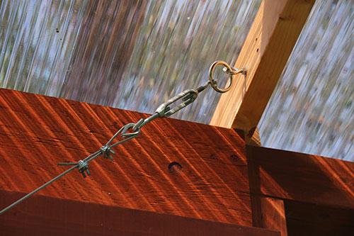 垂れ下がり防止ワイヤー2 格安簡単小屋の作業 小屋大全
