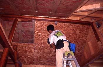 OSB合板の天井