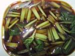 ワサビ葉の醤油漬け
